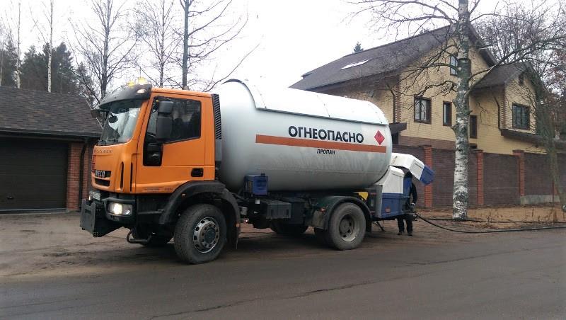 Доставка газа для газгольдеров и в баллонах
